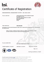 ISO 14001 - Environmental Management System Certificate(PDF 0.5Mb)